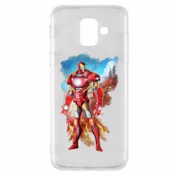 Чохол для Samsung A6 2018 Avengers iron man drawing
