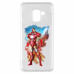 Чохол для Samsung A8 2018 Avengers iron man drawing