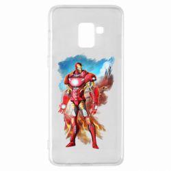 Чохол для Samsung A8+ 2018 Avengers iron man drawing