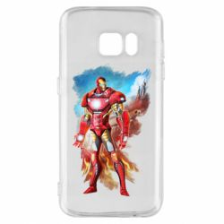 Чохол для Samsung S7 Avengers iron man drawing