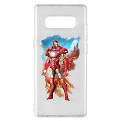 Чохол для Samsung Note 8 Avengers iron man drawing