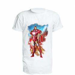 Подовжена футболка Avengers iron man drawing