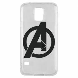 Чохол для Samsung S5 Avengers logo