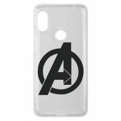Чехол для Xiaomi Redmi Note 6 Pro Avengers logo