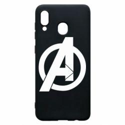 Чохол для Samsung A20 Avengers logo