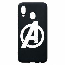Чохол для Samsung A40 Avengers logo