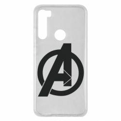 Чехол для Xiaomi Redmi Note 8 Avengers logo