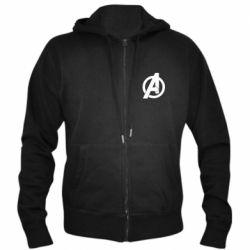 Чоловіча толстовка на блискавці Avengers logo