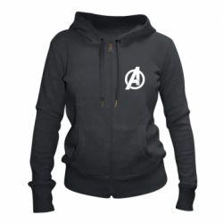 Жіноча толстовка на блискавці Avengers logo