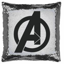 Подушка-хамелеон Avengers logo