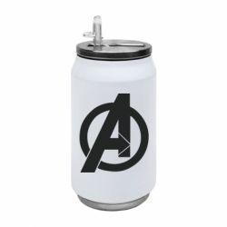 Термобанка 350ml Avengers logo