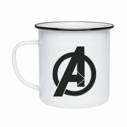 Кружка емальована Avengers logo