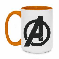 Кружка двоколірна 420ml Avengers logo