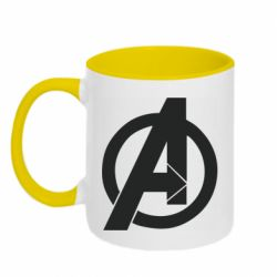 Кружка двоколірна 320ml Avengers logo
