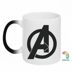 Кружка-хамелеон Avengers logo