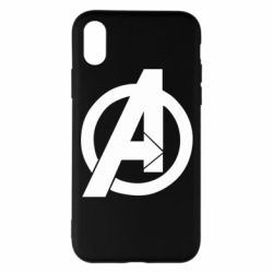 Чохол для iPhone X/Xs Avengers logo