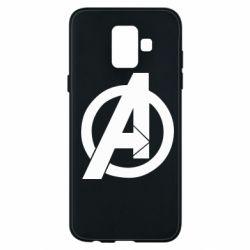 Чохол для Samsung A6 2018 Avengers logo
