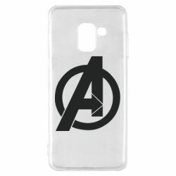 Чохол для Samsung A8 2018 Avengers logo