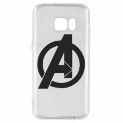 Чохол для Samsung S7 Avengers logo