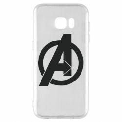 Чохол для Samsung S7 EDGE Avengers logo