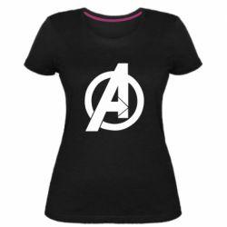Жіноча стрейчева футболка Avengers logo