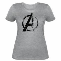 Женская футболка Avengers logotype destruction