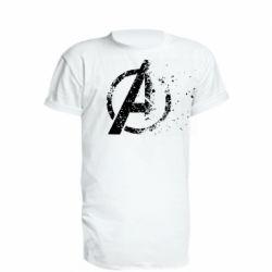 Удлиненная футболка Avengers logotype destruction