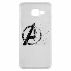 Чехол для Samsung A3 2016 Avengers logotype destruction