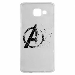 Чехол для Samsung A5 2016 Avengers logotype destruction