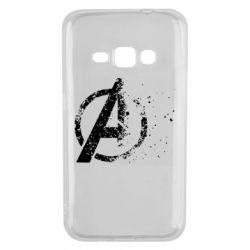 Чехол для Samsung J1 2016 Avengers logotype destruction