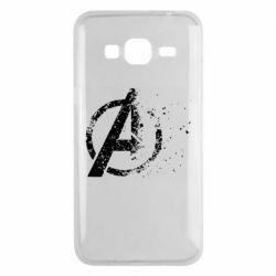 Чехол для Samsung J3 2016 Avengers logotype destruction
