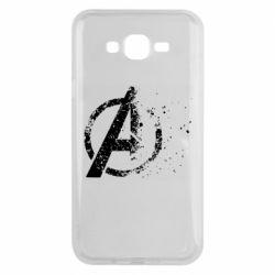 Чехол для Samsung J7 2015 Avengers logotype destruction