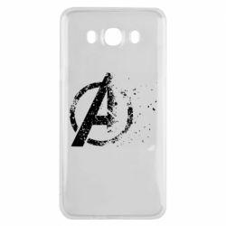 Чехол для Samsung J7 2016 Avengers logotype destruction
