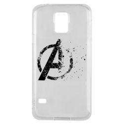 Чехол для Samsung S5 Avengers logotype destruction