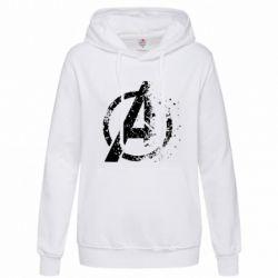 Женская толстовка Avengers logotype destruction