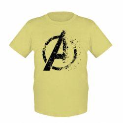 Детская футболка Avengers logotype destruction