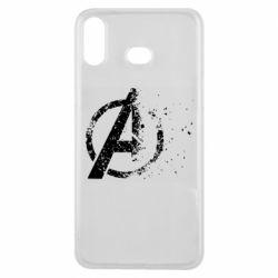 Чехол для Samsung A6s Avengers logotype destruction