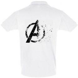 Мужская футболка поло Avengers logotype destruction