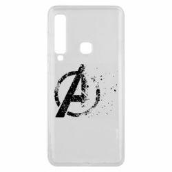 Чехол для Samsung A9 2018 Avengers logotype destruction