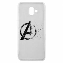 Чехол для Samsung J6 Plus 2018 Avengers logotype destruction