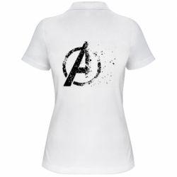 Женская футболка поло Avengers logotype destruction