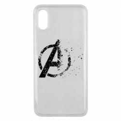 Чехол для Xiaomi Mi8 Pro Avengers logotype destruction