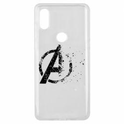 Чехол для Xiaomi Mi Mix 3 Avengers logotype destruction