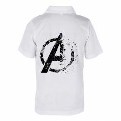 Детская футболка поло Avengers logotype destruction