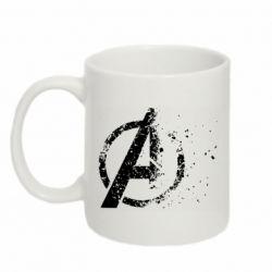 Кружка 320ml Avengers logotype destruction