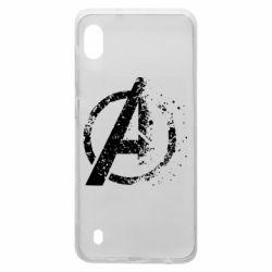 Чехол для Samsung A10 Avengers logotype destruction