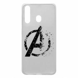 Чехол для Samsung A60 Avengers logotype destruction