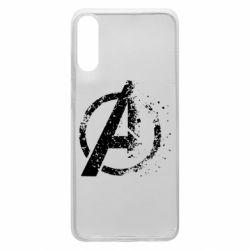 Чехол для Samsung A70 Avengers logotype destruction