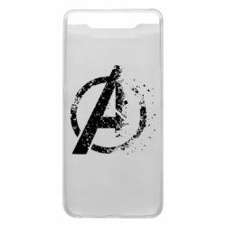 Чехол для Samsung A80 Avengers logotype destruction