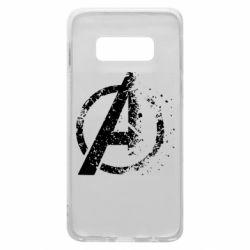 Чехол для Samsung S10e Avengers logotype destruction